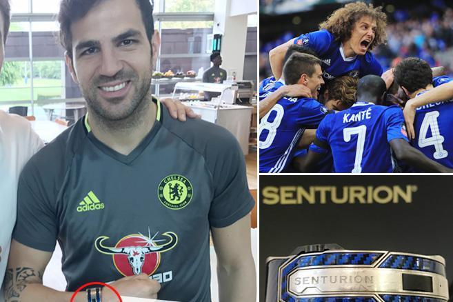 Fabregas e il suo Senturion regalato da David Luiz