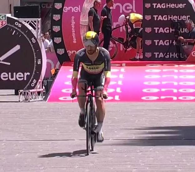 He then went off on his time trial at the Giro d'Italia