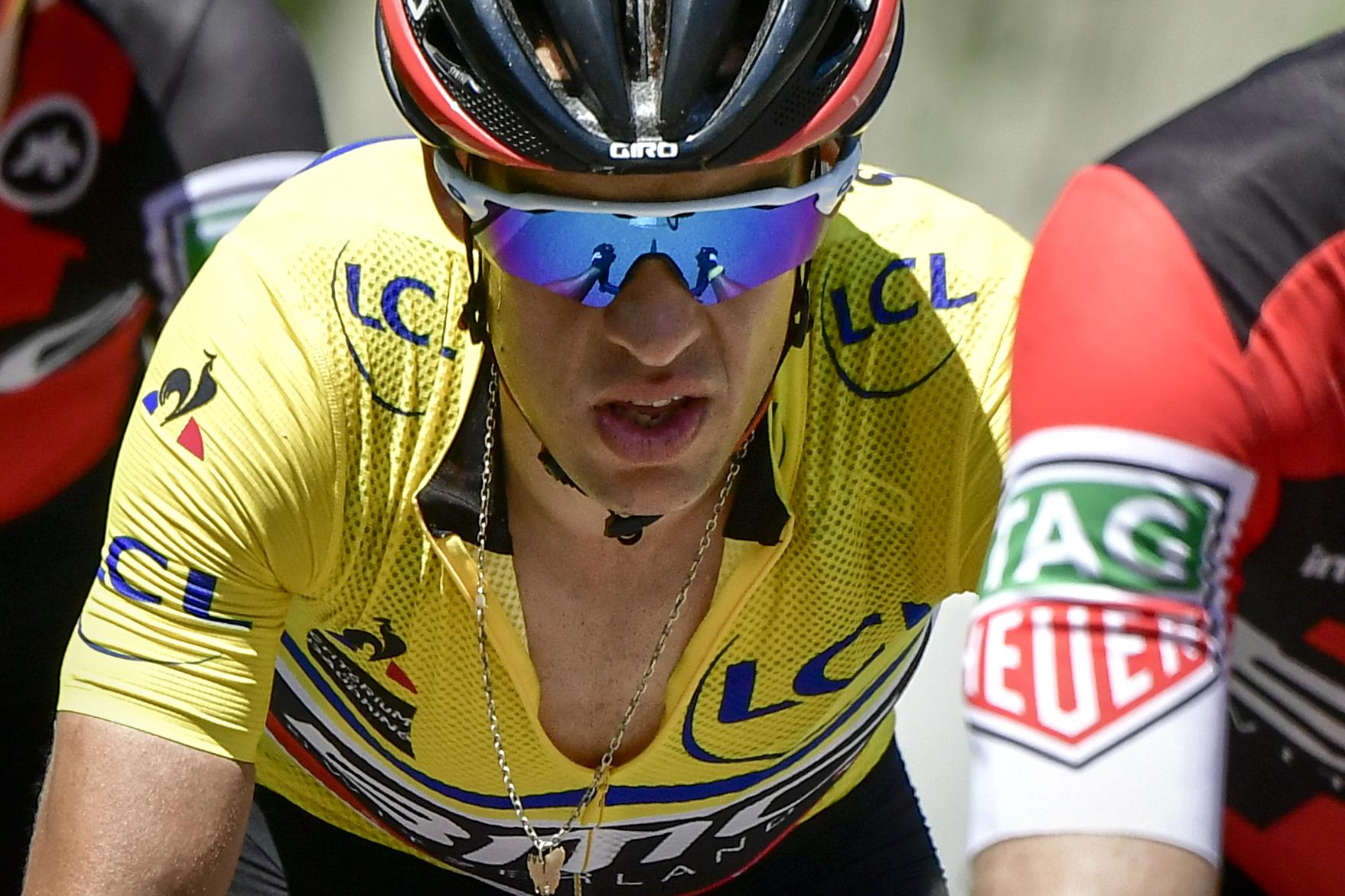 Richie Porte finished strongly in the leader's jersey to finish sixth on the day