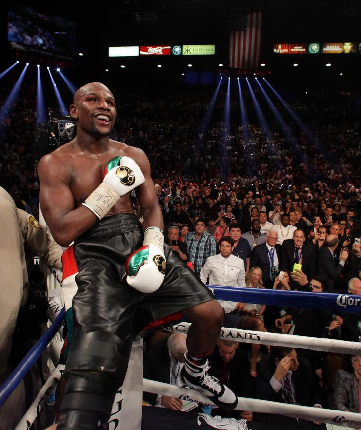 Floyd Mayweather retired two years ago equally the legendary Rocky Marciano's record