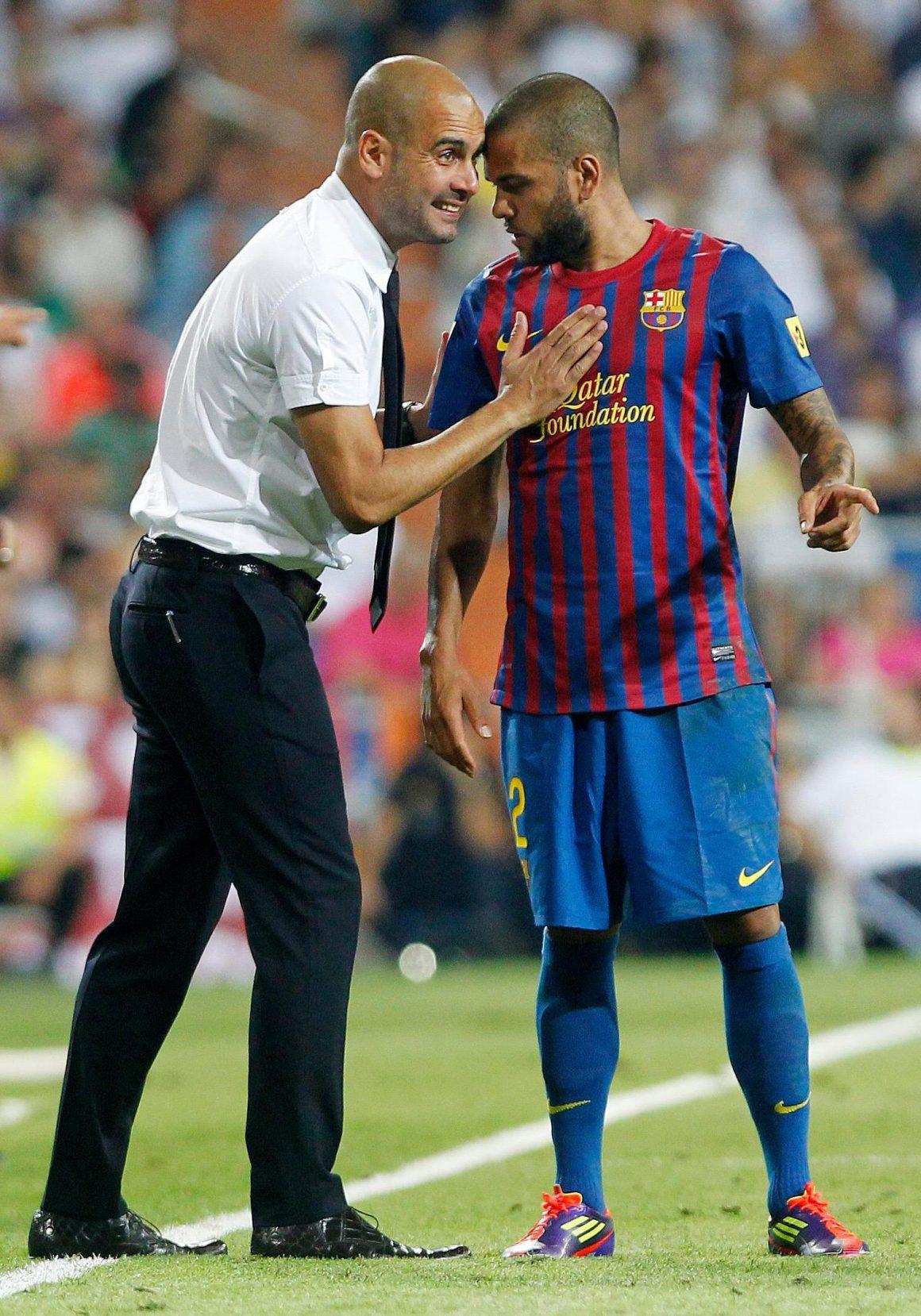 Dani Alves on Manchester City boss Pep Guardiola as Samba star nears move to Premier League