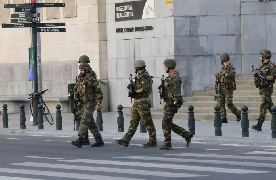 Soldiers raced to the scene after reports of a small explosion inside the major terminal