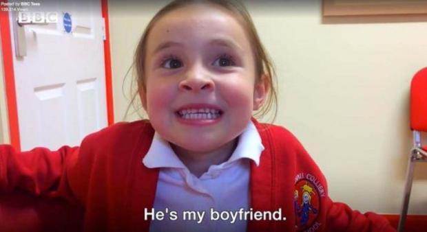 Little Poppy Moore told reporters Bradley was her 'boyfriend' because he is 'so cute'