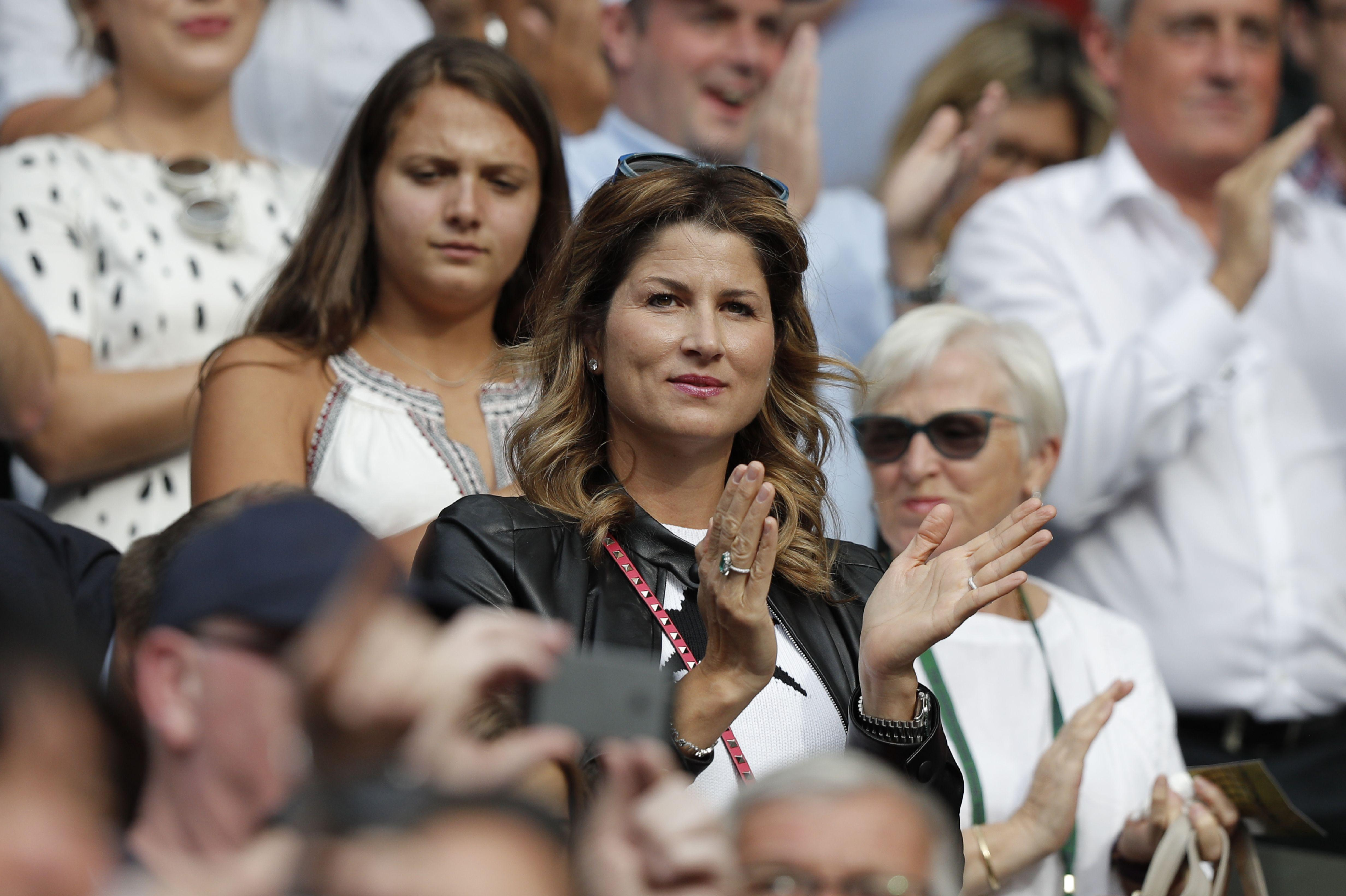 The ex-tennis pro can regularly be spotted in the crowd at major sporting events