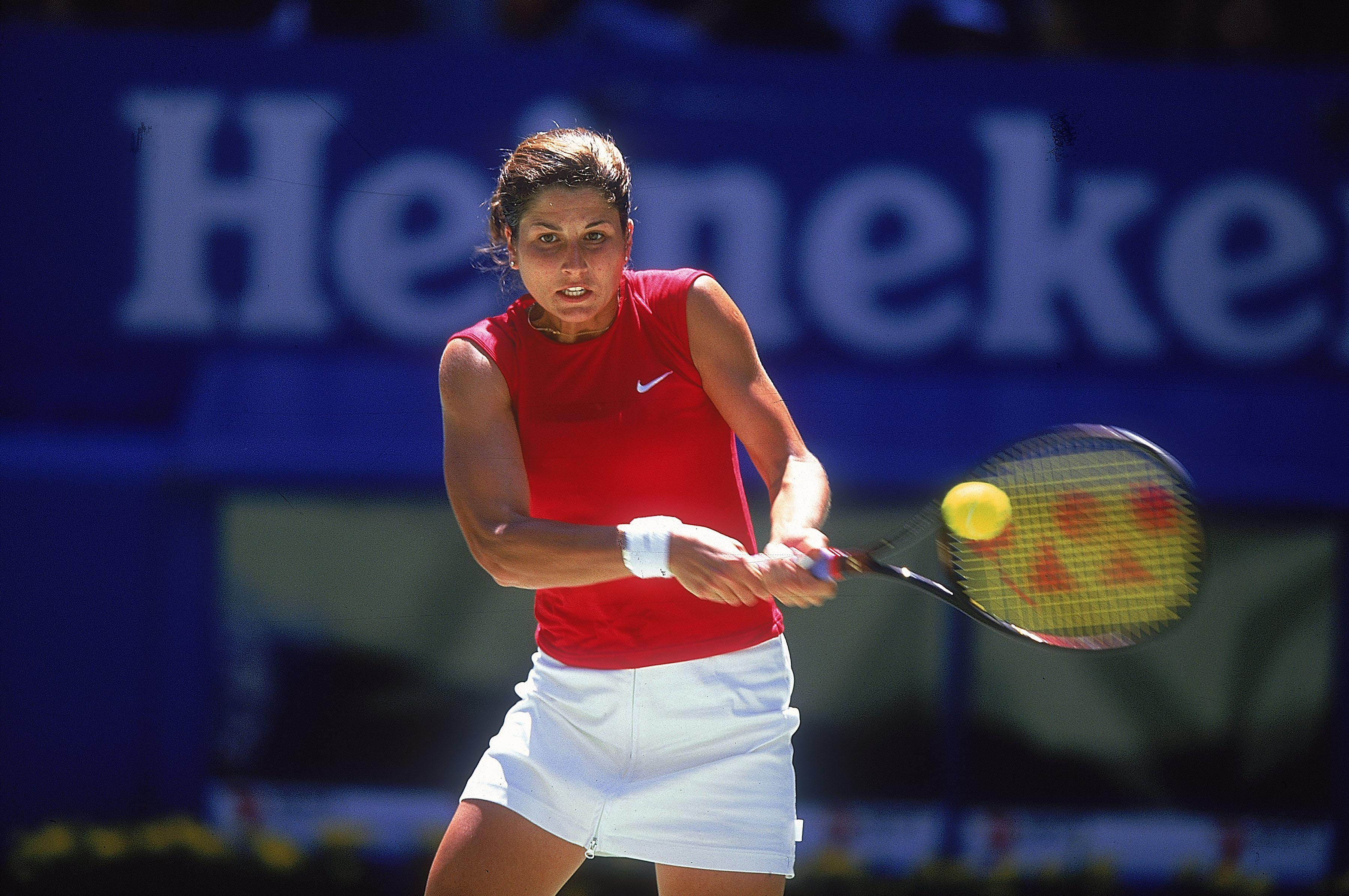 Mirka in action during the Second Round of the Australian Open in 2001