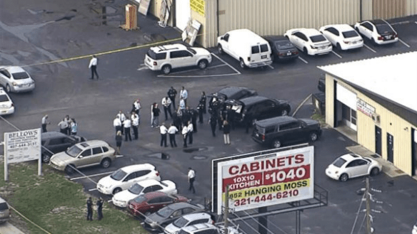 """A mass shooting in Orlando has left up to five people dead after a """"disgruntled employee"""" reportedly went on a rampage"""