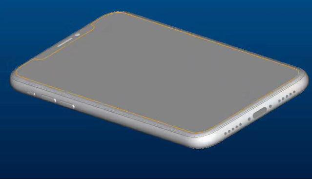 This is one of the leaked pictures of the iPhone 8, which is also said to be able to double as a mirror