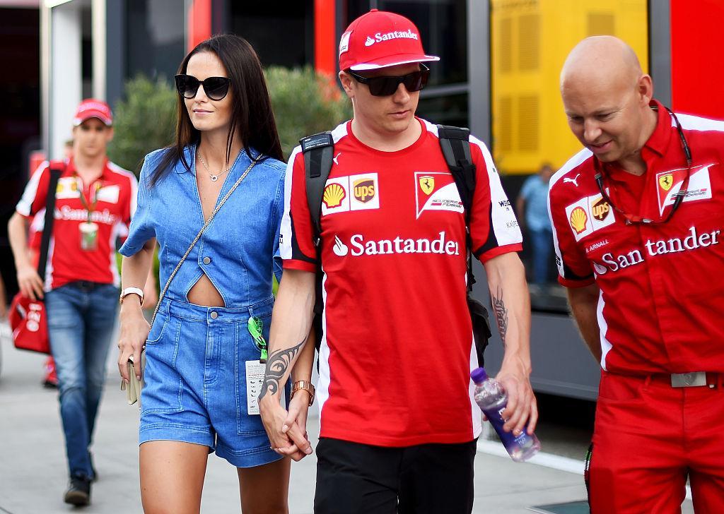 She is married to F1 driver Kimi Raikkonen