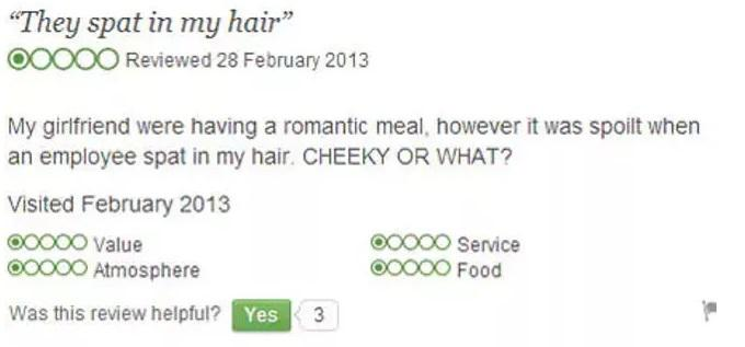 'Cheeky' is one way to describe this type of service
