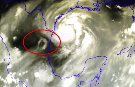 Some UFO fans are hailing the footage of the extreme weather phenomenonas proof of extraterrestrial activity