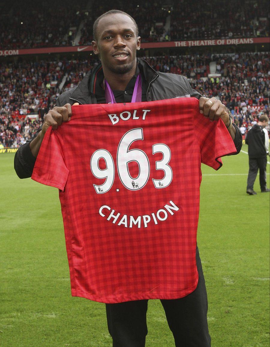 The sprinter is a lifelong Man United fan