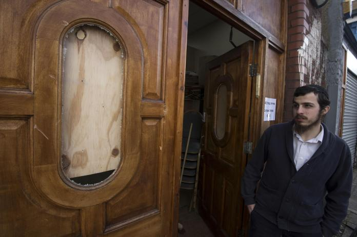 London synagogue that was targeted by an anti-Semitic attack