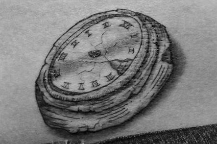 Clock without hands tattoo