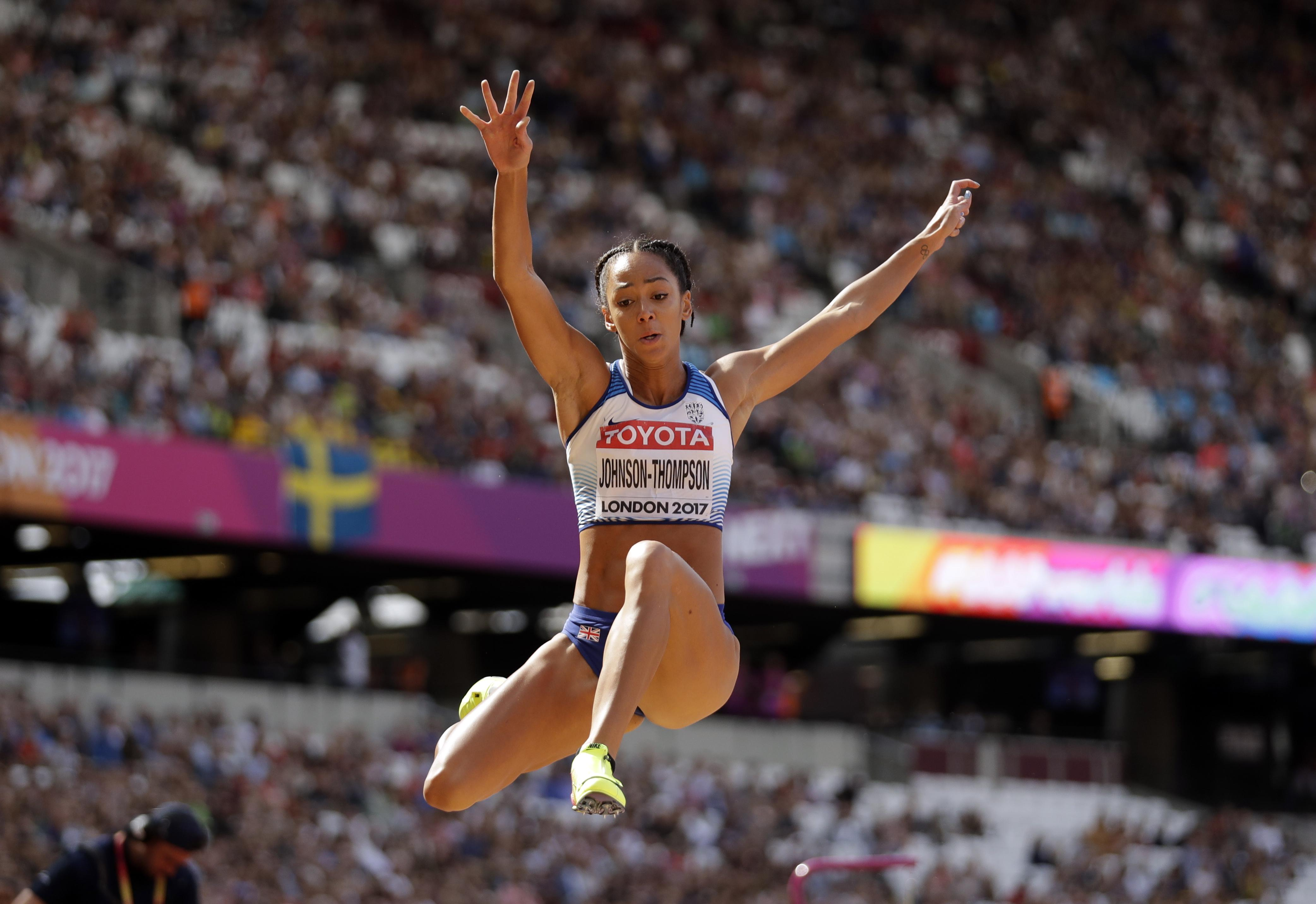 Katarina Johnson-Thompson moved up to third with a good showing in the long-jump