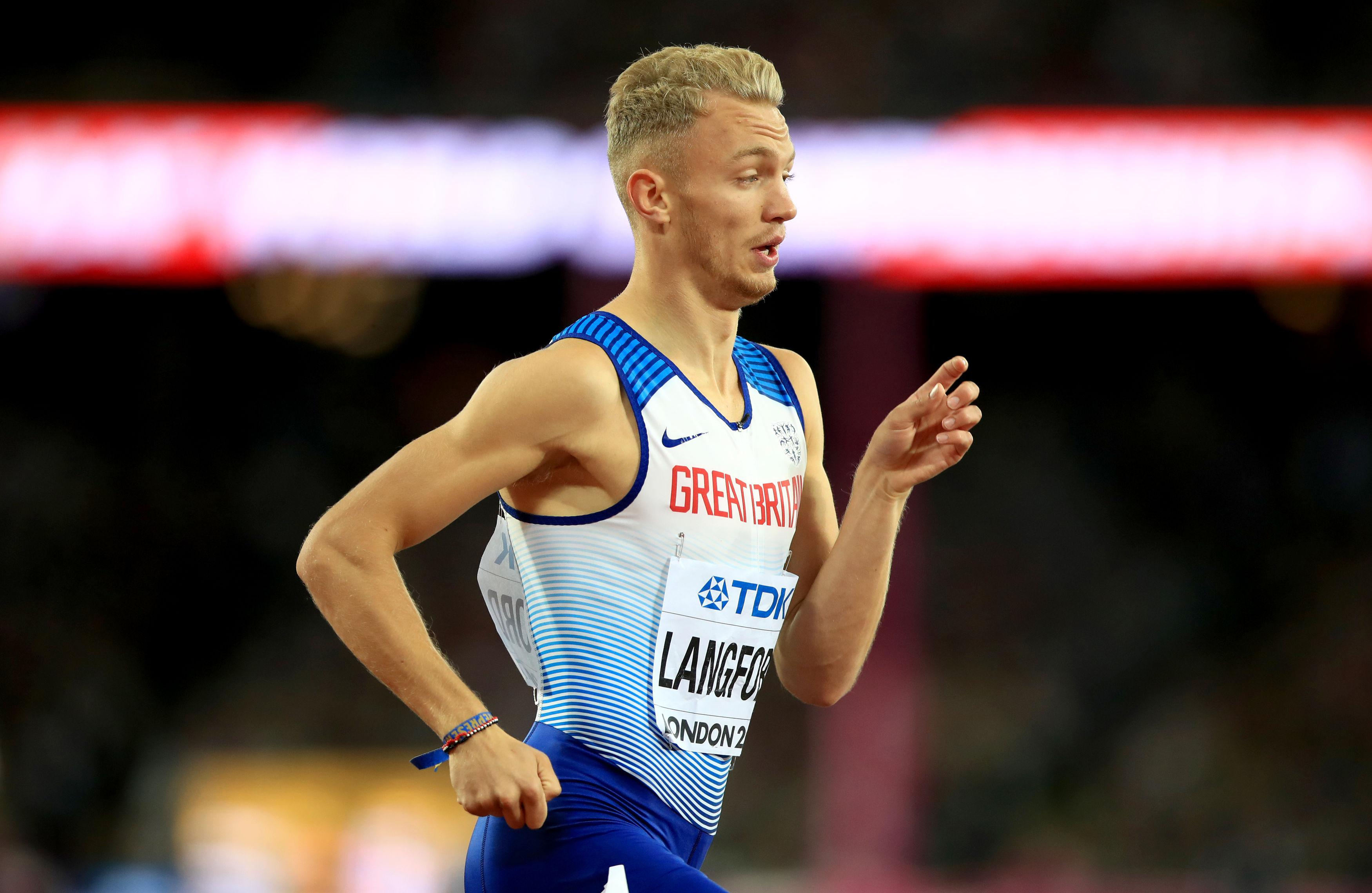 Kyle Langford scorched into the world 800 metres final with a thrilling semi-final run