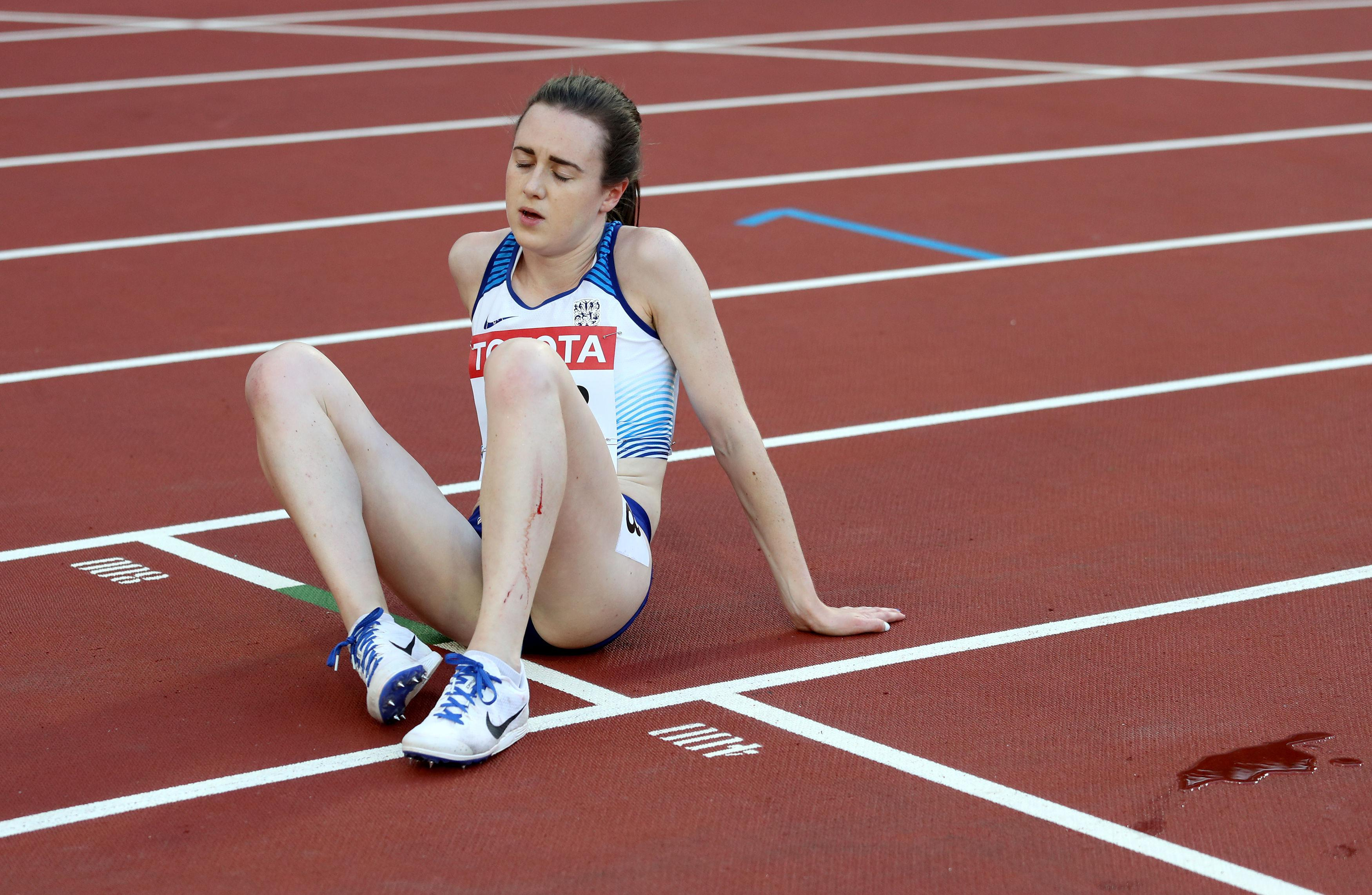 The British hopeful collapsed on the track at the end of her heat