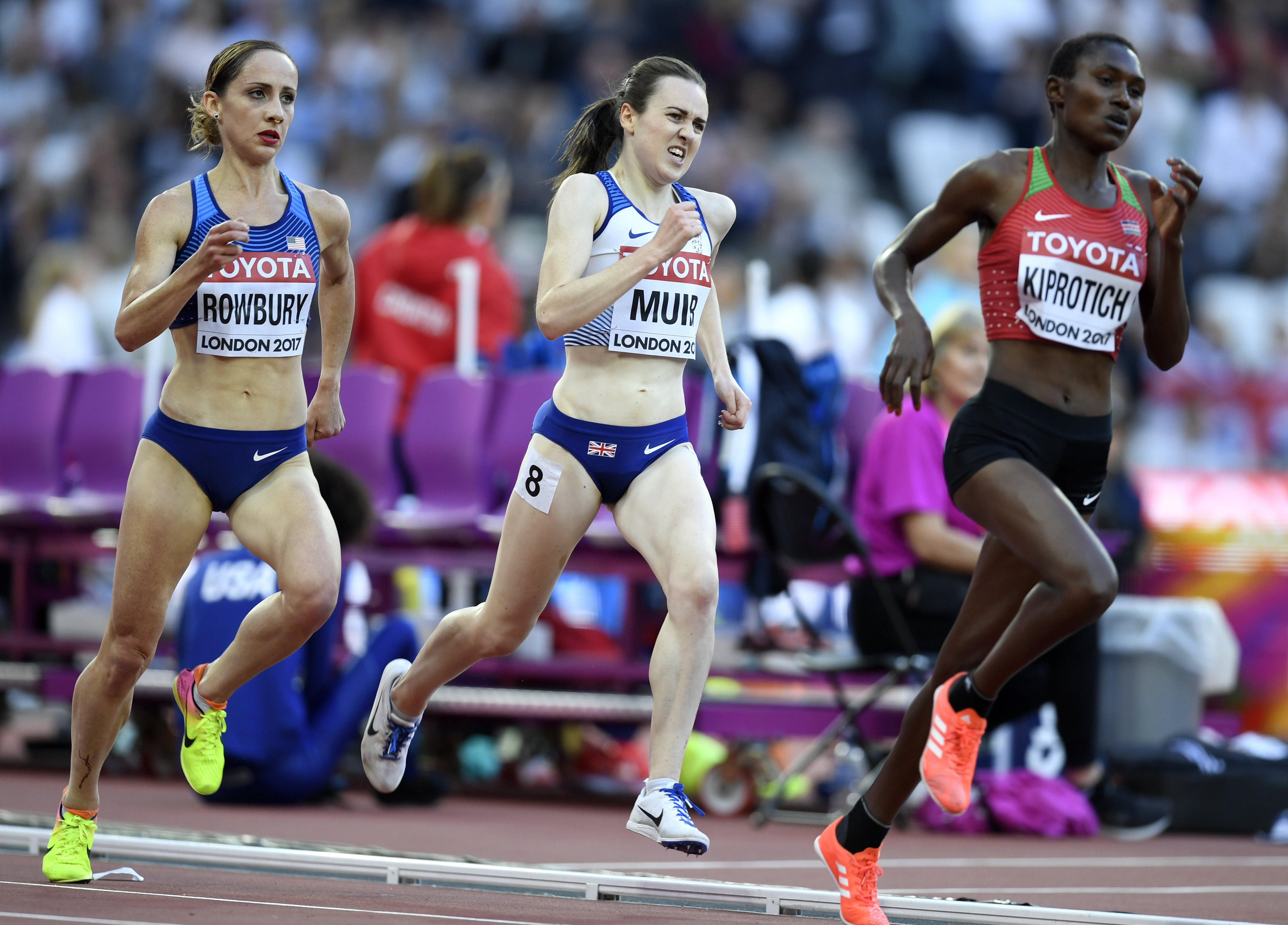 The Brit star did herself proud in a gruelling race