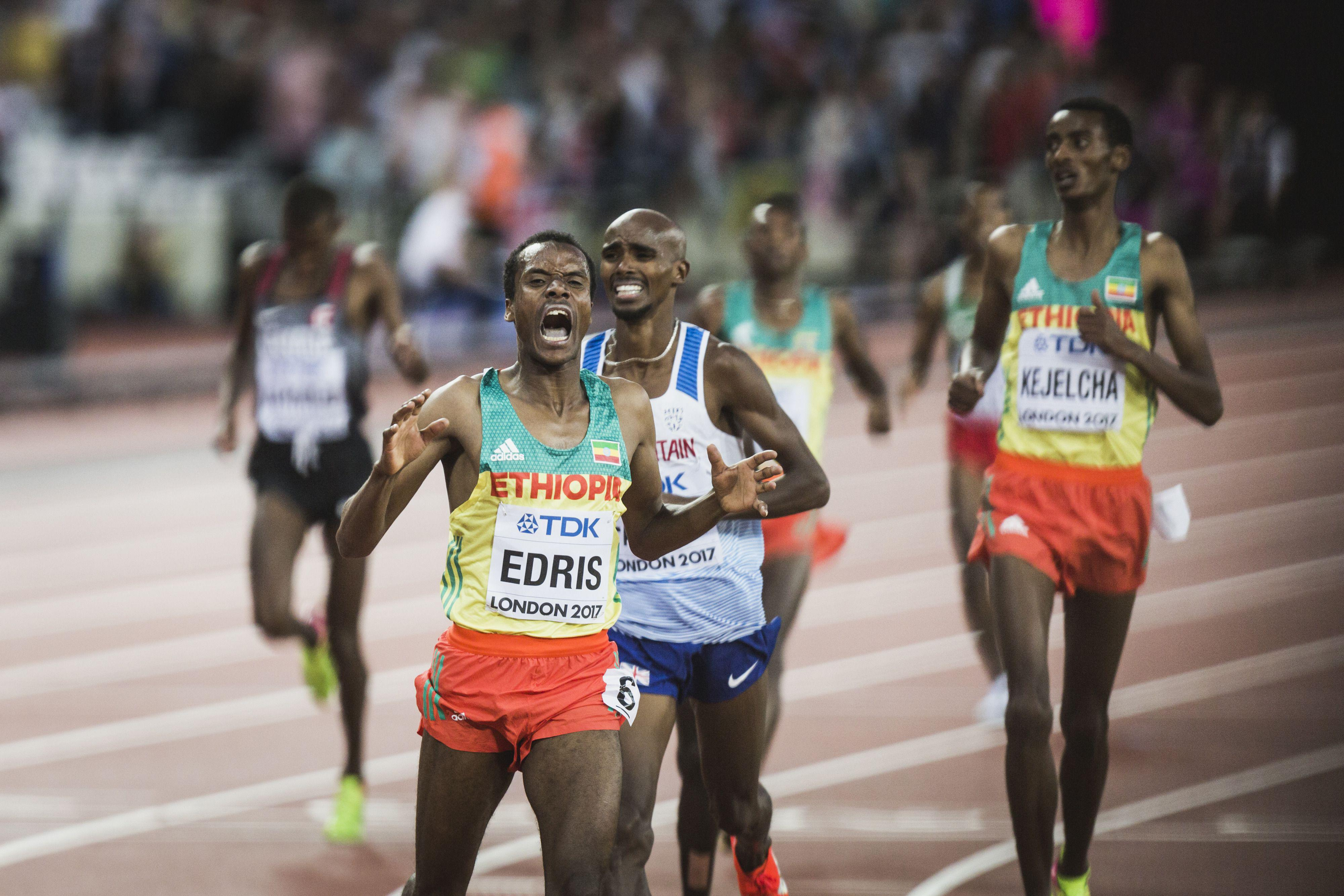 Mo Farah finished his track career with a silver medal in the 5,000m after being defeated by Ethiopian in Muktar Edris