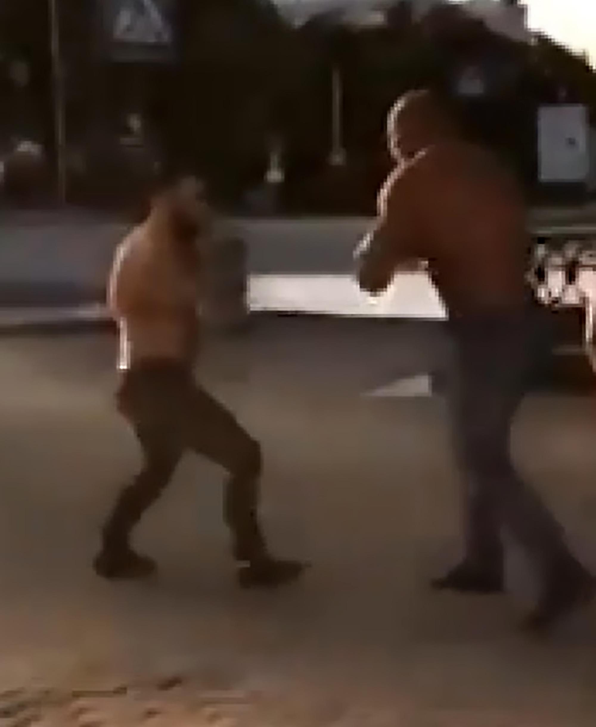 shocking moment mma fighter