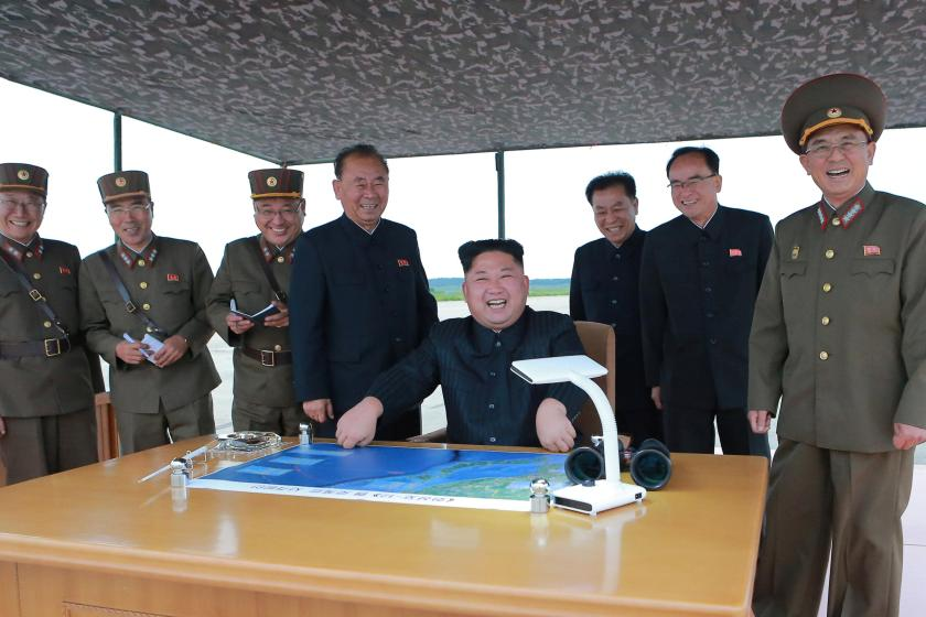 North Korea has released pictures of Kim-Jong-un overseeing the latest missile test