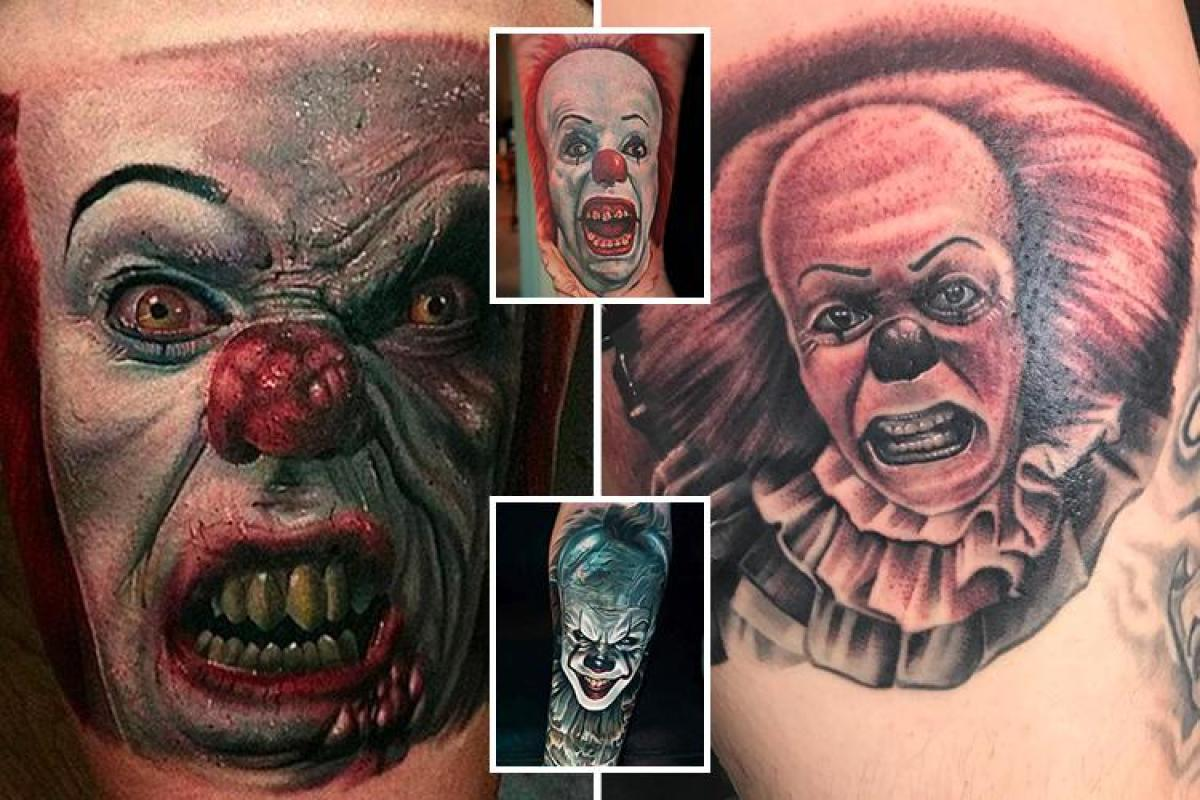 b5db81789 Creepy Pennywise clown tattoos are the terrifying trend sweeping Instagram  ahead of the It film release