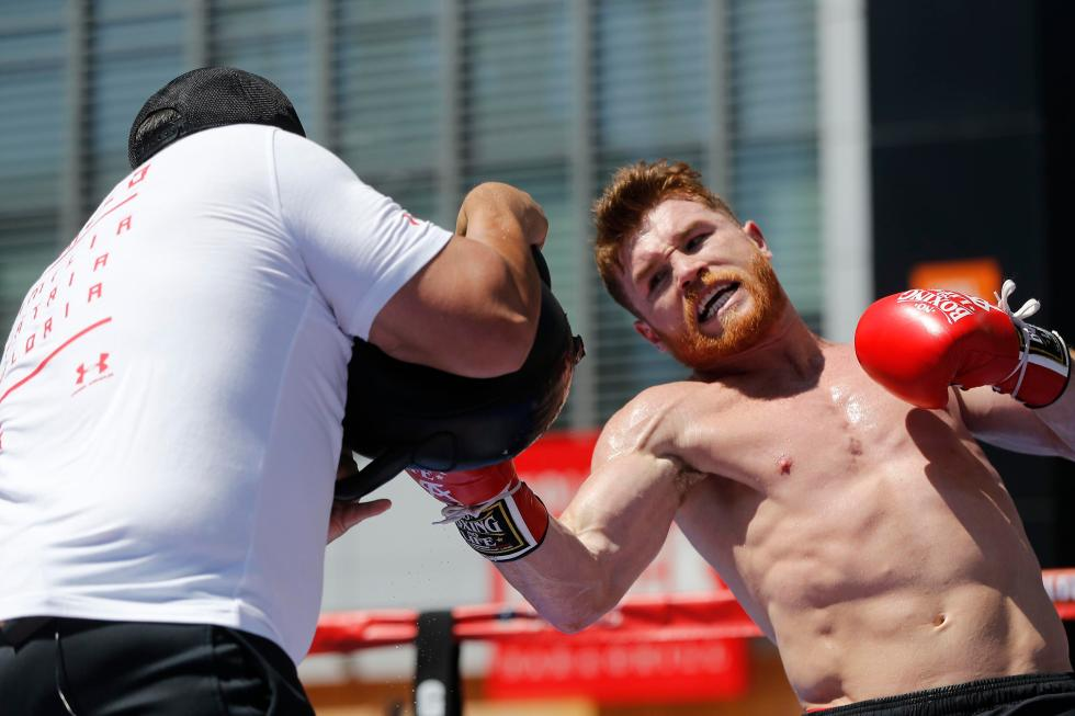 Saul 'Canelo' Alvarez has seriously baulked up ahead of the fight