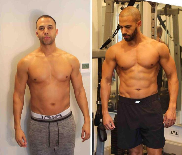 Marvin Humes revealed his amazing body transformations after just four months of training