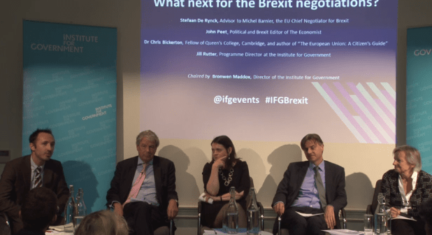 He appeared on a panel this lunchtime where he also played down the prospect of withdrawing the Article 50 notification