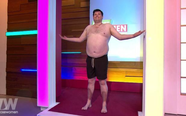 Mark appeared on the show in his boxers to promote body confidence