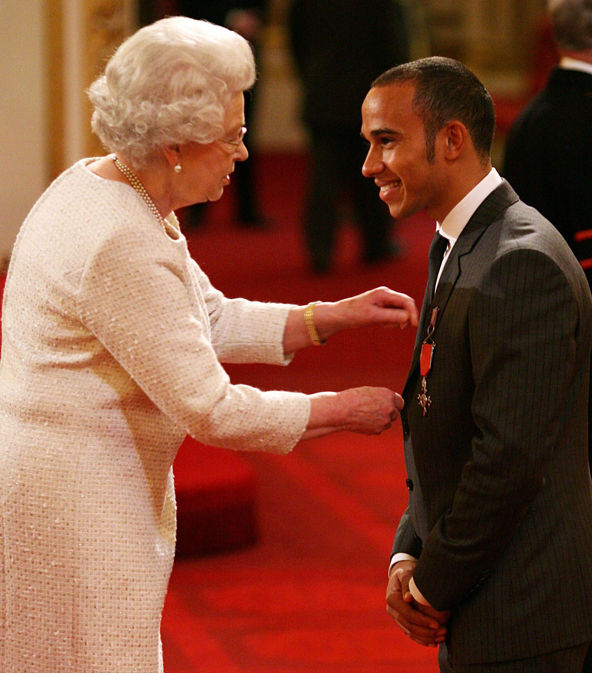 Lewis Hamilton says it has been eight long years since he met Queen Elizabeth II