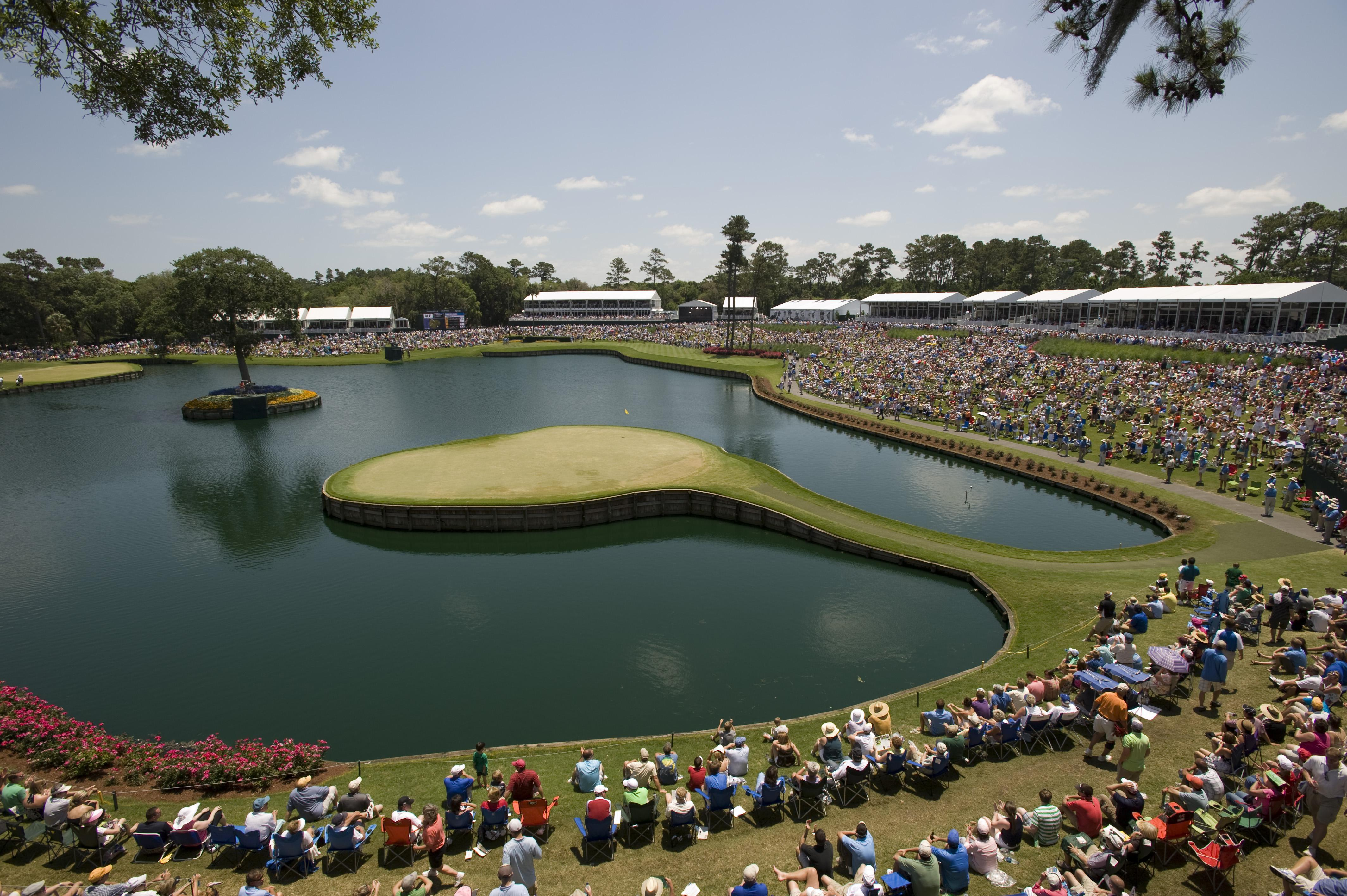 The 17th hole at Sawgrass is one of the trickiest as it is surrounded by water