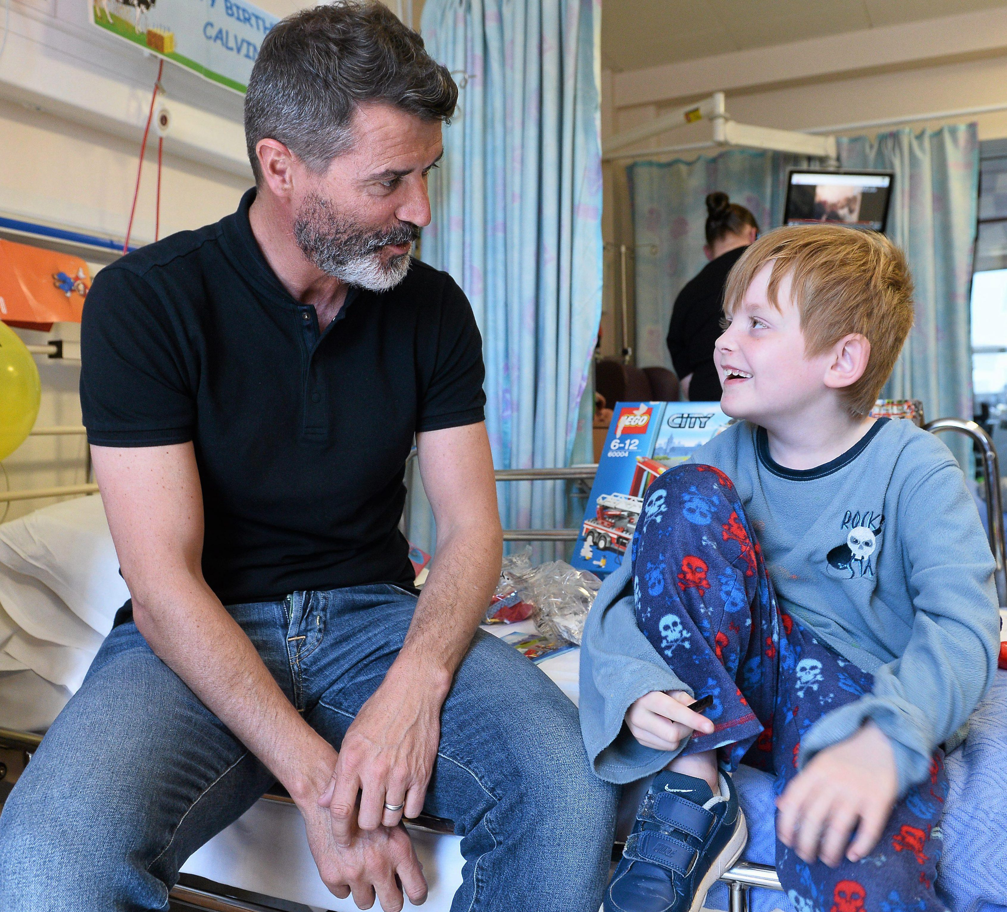 Keano proves that snubbing might young Rory might have been a blip. He is seen here visiting sick children in hospital