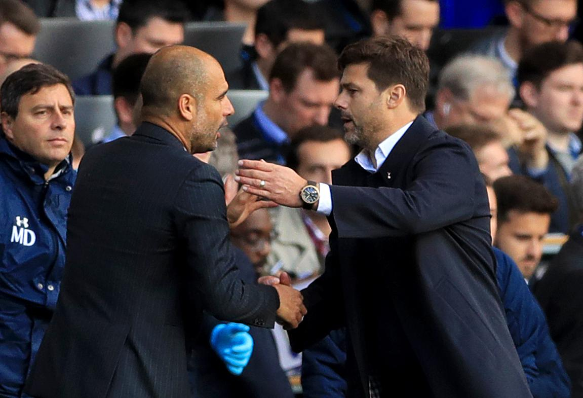 Image result for pep and pochettino