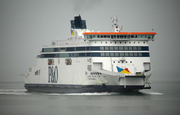 Two loaded pistols were stashed on P&O's Spirit of Britain vessel