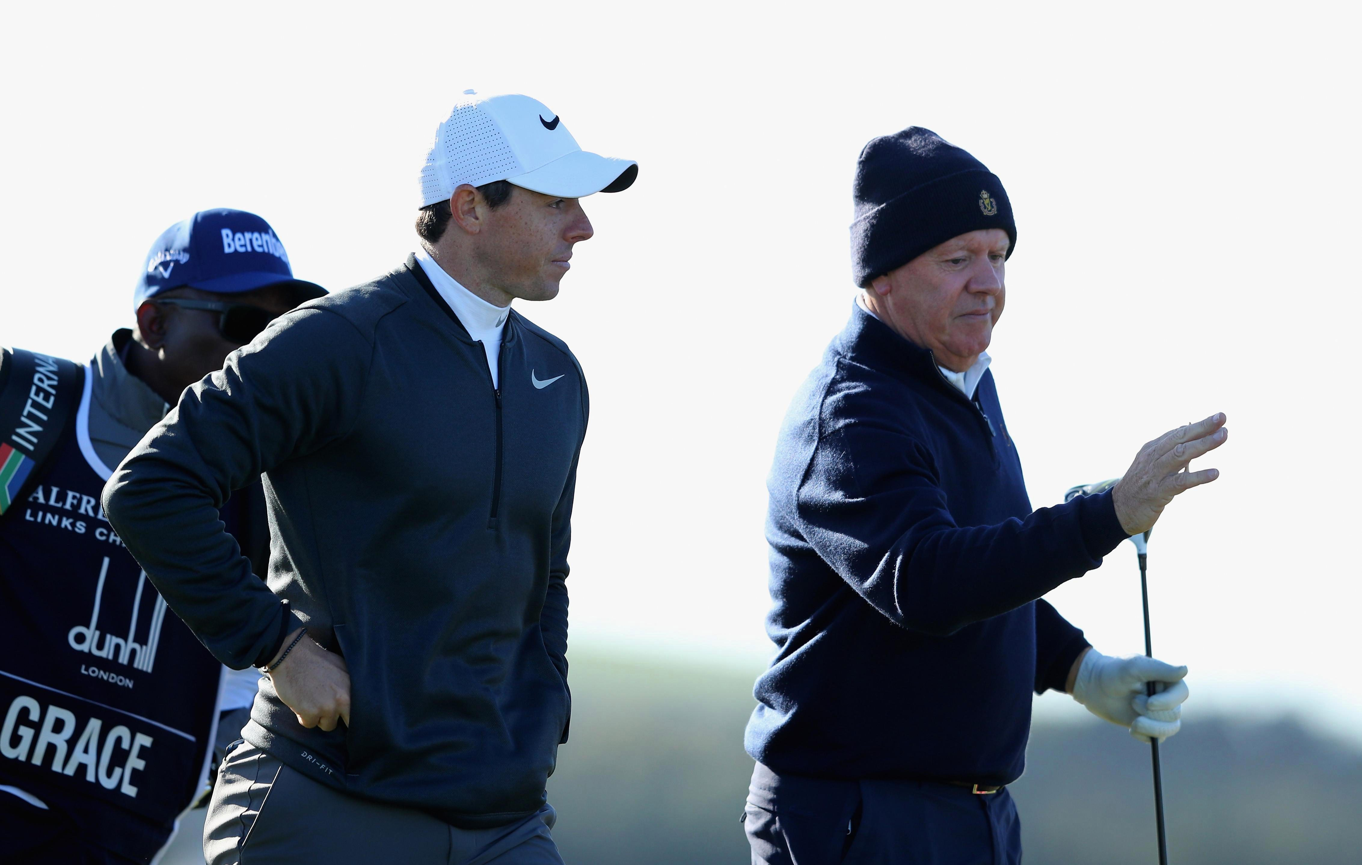 Rory McIlroy shared around with his dad Gerry on his birthday