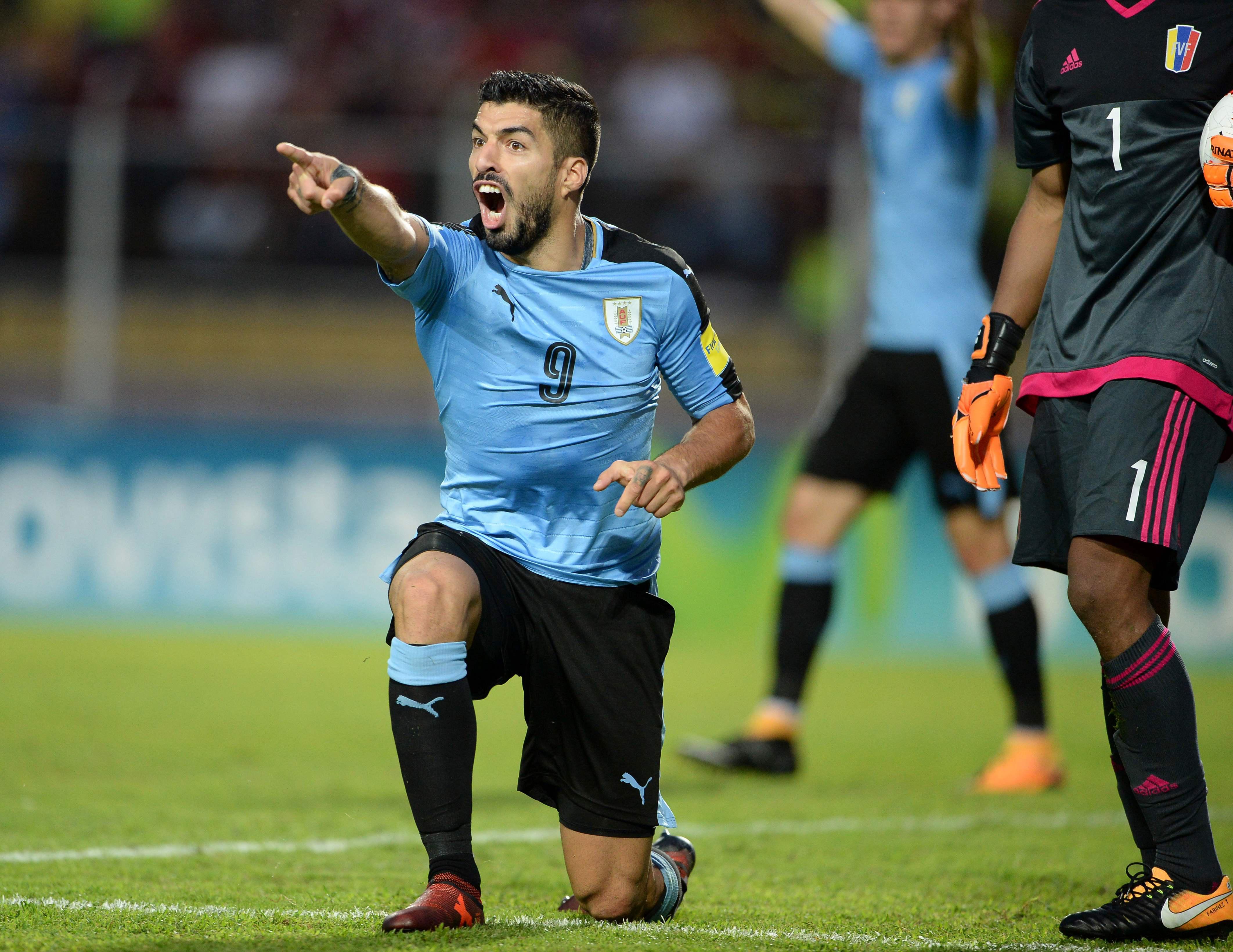 Luis Suarez and Uruguay drew in Venezuela but still made it Russia