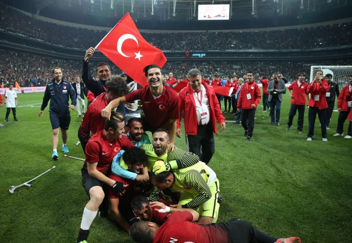 Turkey won via a last-minute goal to defeat England in the final