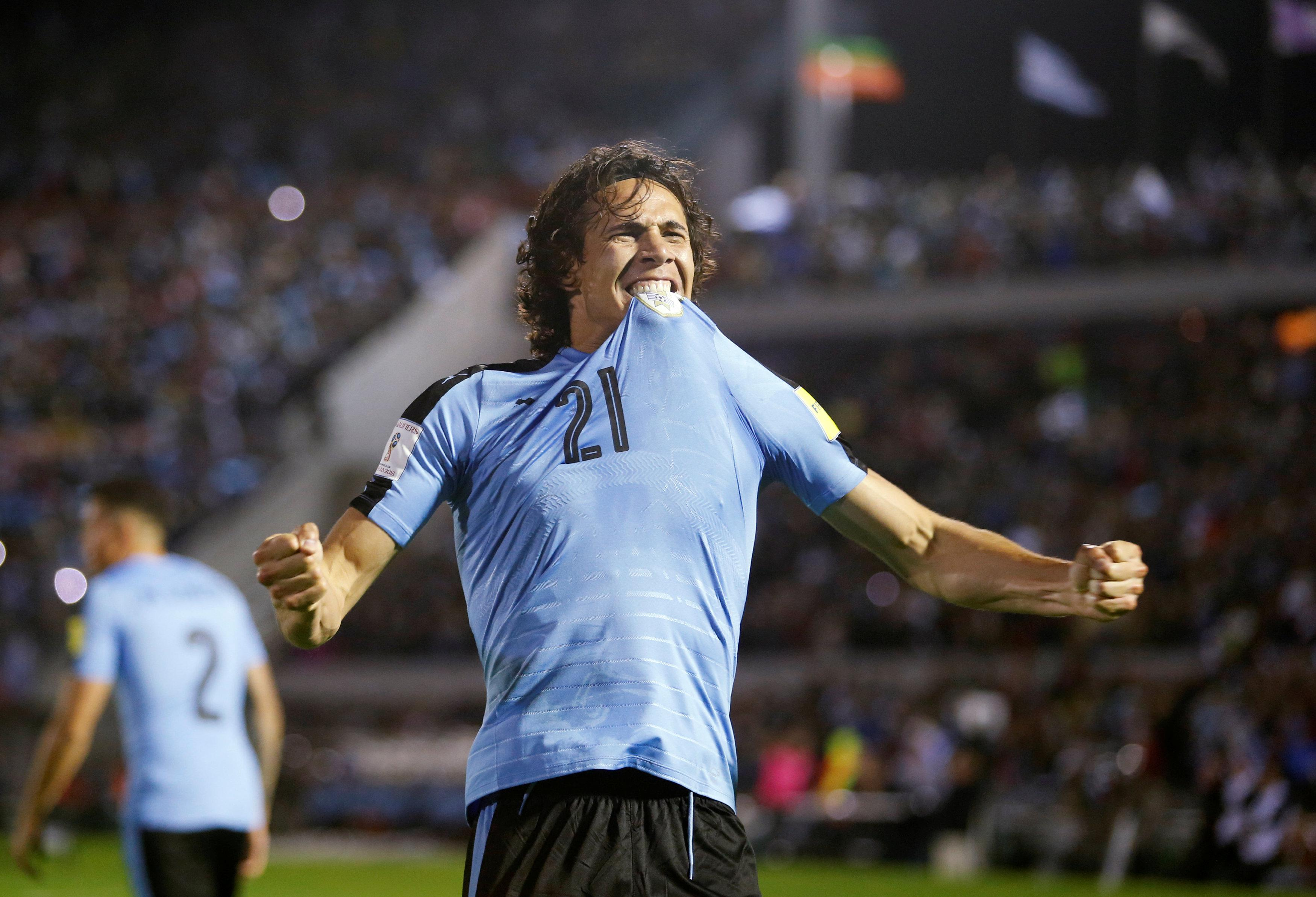 Cavani is poised to go the Russia 2018 after firing Uruguay to the World Cup