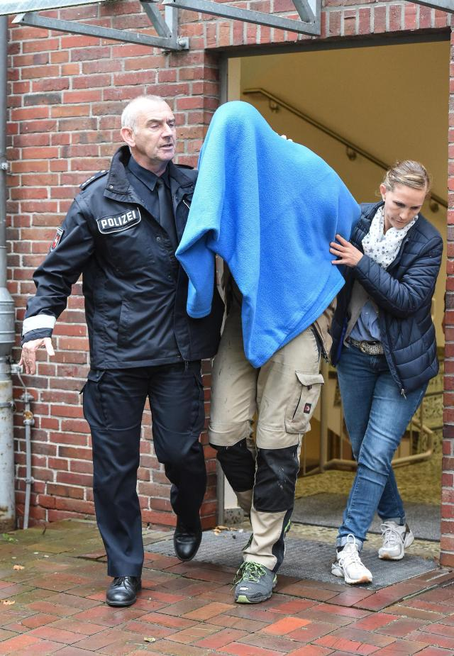 The kitchen fitter from Bremen was collared by cops after being turned in by his girlfriend and the victim's grandparents
