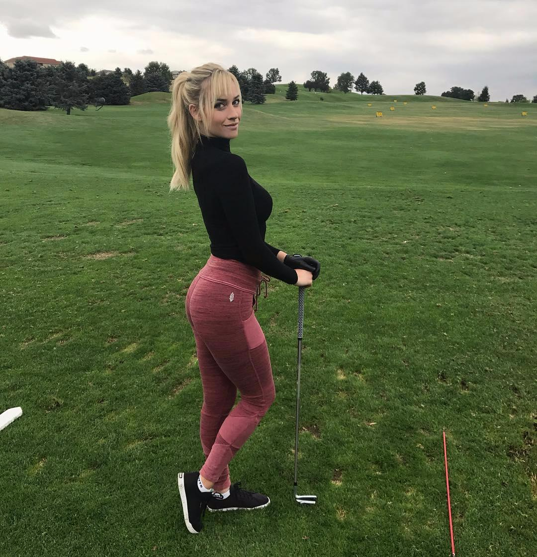 The golfer has her own game to back up her social media profile