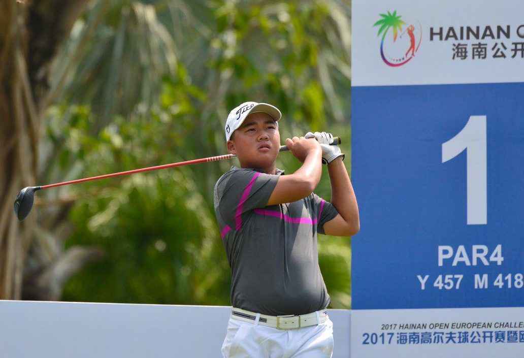 Li Linqiang has become the youngest player to make a cut on the Challenge Tour