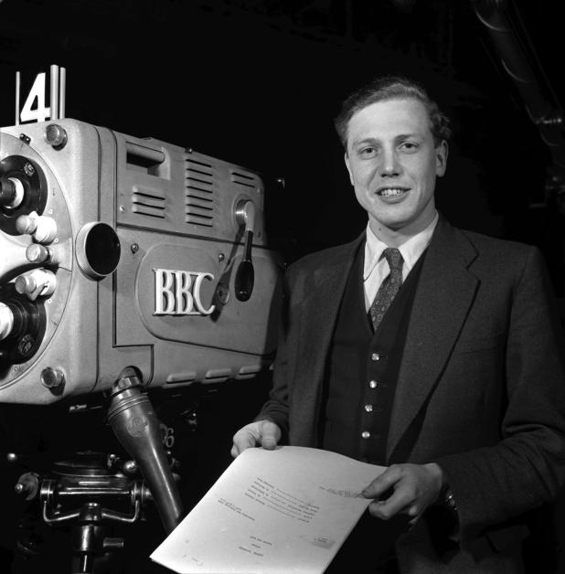 David is the only person to have won BAFTAs for programmes in black and white, colour, HD, and 3D. Pictured in 1956