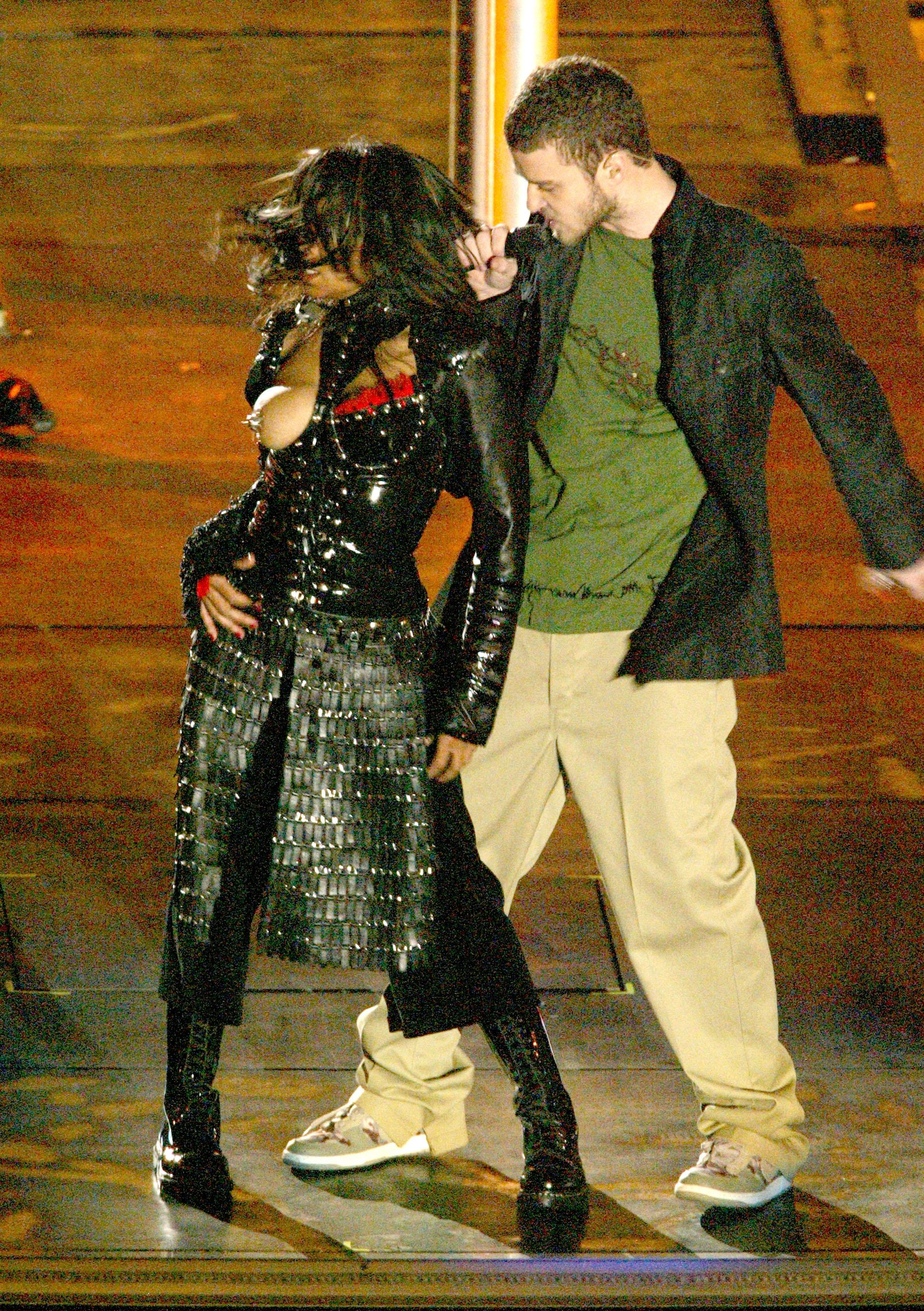 Justin's last Super Bowl performance was a controversial one in 2004 when he ripped off part of Janet Jackson's outfit, exposing her breast