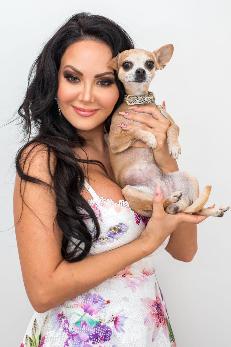 Star Delguidice's daily routine includes walking her Chihuahua Tinkerbell and visiting the tanning salon