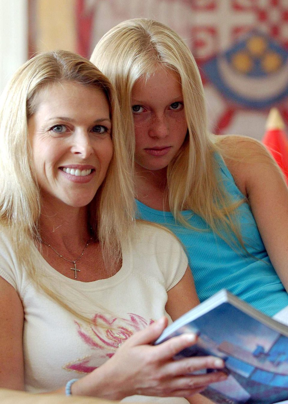 Catherine pictured with her daughter India in 2004