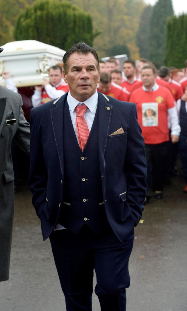 Paddy Doherty leads the funeral procession for his nephew Tom 'Tomboy' Doherty