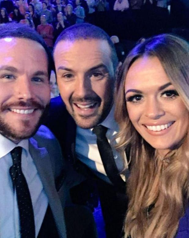 Adam and Beckie, with Take Me Out Host, Paddy McGuiness