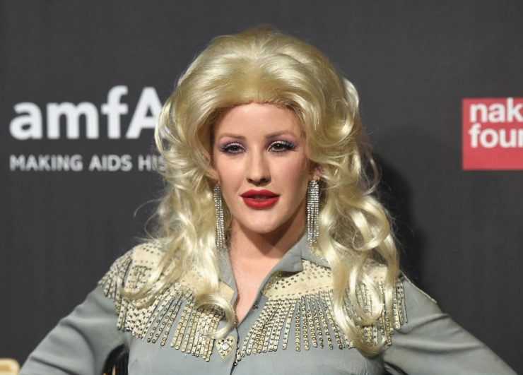 Ellie channelled Dolly with a massive blonde wig