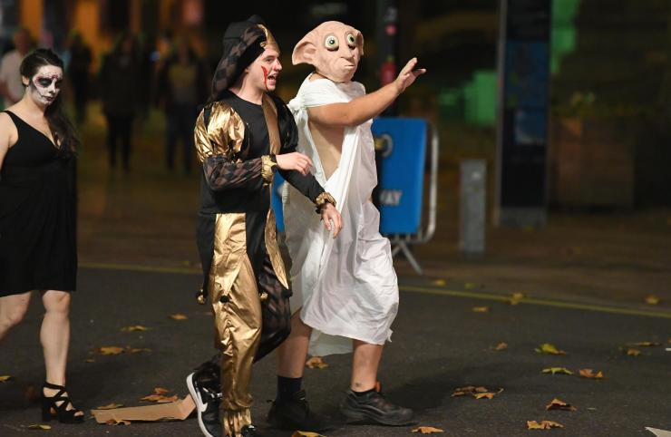 Dobby lives! A Halloween-goer pays tribute to the beloved Harry Potter character
