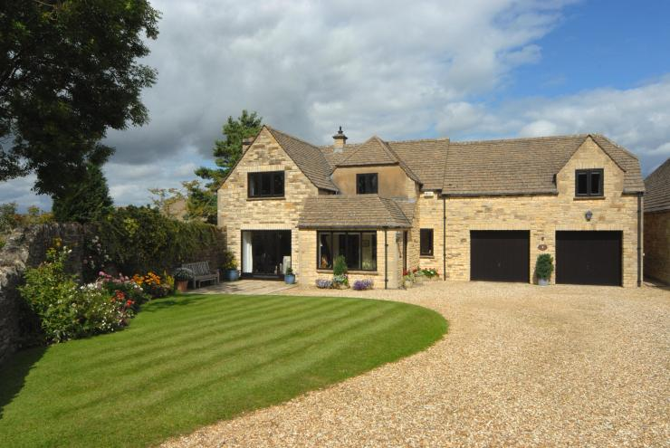 The Gloucestershire home also boasts a double garage and one bedroom annex